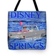 Disney Springs Amphicar White Tote Bag