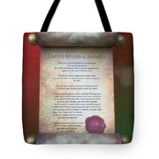 Disney World Christmas In The United States Scroll Tote Bag