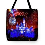 Disneyland 60th Anniversary Fireworks Tote Bag