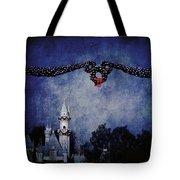 Disneyland Castle At Christmas Time Tote Bag