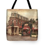 Disneyland Corner Cafe Pa Textured Tote Bag