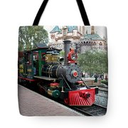 Disneyland Railroad Engine 3 With Castle Tote Bag