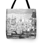 Disneyland Small World Panorama Pa Bw Tote Bag