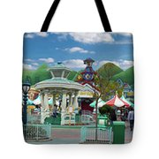 Disneyland Toontown Young Man Proposing To His Lady Panorama Tote Bag