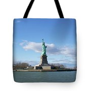 Distant Liberty New York Tote Bag