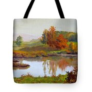 Distant Maples Tote Bag