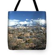 Distant Mountain Range Tote Bag