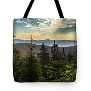 Distant Mountains To The East Tote Bag