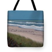 Distant Pier Tote Bag