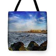 Distant Pier Tote Bag