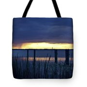 Distant Storms At Sunset Tote Bag