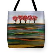 Distant Trees Tote Bag by Carolyn Weir
