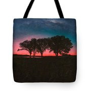 Distant Trees Under Milkyway Horizon By Adam Asar 3 Tote Bag