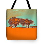 Distant Trees Under Milkyway Horizon By Adam Asar Tote Bag