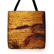 Distant View Of Outrigger Tote Bag