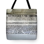Distinguished Flying Command  Tote Bag
