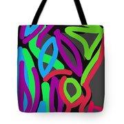 Distorted Geometry Tote Bag