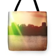 Distorted Sunset Tote Bag