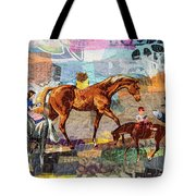 Distracted Riding Tote Bag by Martha Ressler