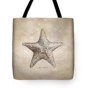 Distressed Antique Nautical Starfish Tote Bag