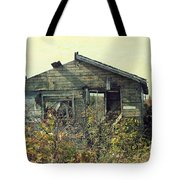 Distressed Honey House Door County Wisconsin Tote Bag