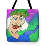 Disturbed And Synchromatic Portrait Of Salezjan Wiencikowski, Well Known Freak And Funny Person Tote Bag