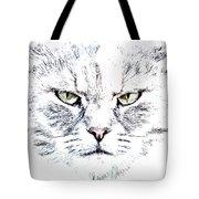 Disturbed Cat Tote Bag