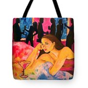 Ditched, Nightclub Bar Painting Tote Bag