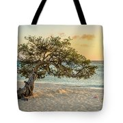 Divi Tree Sunset Tote Bag