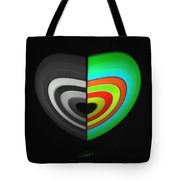 Divided Heart Tote Bag