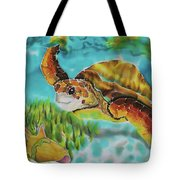 Diving Conch Tote Bag