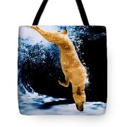 Diving Dog Underwater Tote Bag
