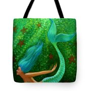 Diving Mermaid Fantasy Art Tote Bag