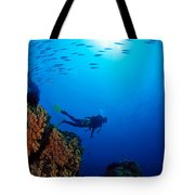Diving Scene Tote Bag
