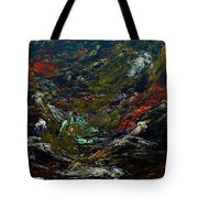 Diving The Reef Series - Sea Floor Abstract Tote Bag