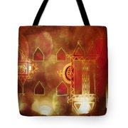 Diwali Card Lamps And Murals Blue City India Rajasthan 2h Tote Bag