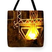 Diwali Lamps And Murals Blue City India Rajasthan Wide 2e Tote Bag
