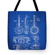 Dixie Banjolele Patent 1954 In Blue Print Tote Bag