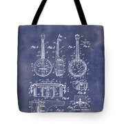Dixie Banjolele Patent 1954 In Grunge Blue Tote Bag
