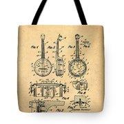 Dixie Banjolele Patent 1954 In Sepia Tote Bag