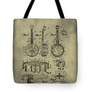 Dixie Banjolele Patent 1954 In Weathered Tote Bag