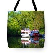 Dixie Belle River Boat Tote Bag