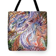 Dizzy Feathers Tote Bag