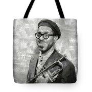 Dizzy Gillespie Vintage Jazz Musician Tote Bag