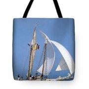 dk tall ships fiddlers green gaff schooner lyr 1973 D K Spinaker Tote Bag