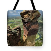 Dm5314 Climbers On Monkey Face Rock Or Tote Bag by Ed Cooper Photography
