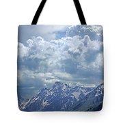Dm9233 Clouds Over Mt. Moran V Tote Bag