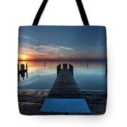 Dnr West Boat Launch Sunrise Tote Bag