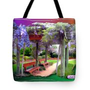 Do-00011 Wisteria Walk Tote Bag