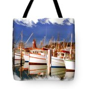 Do-00096 Boats In Nelson Bay Early 90s Tote Bag
